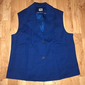 ANNE KLEIN 2 Pocket Mariner Vest Size 14